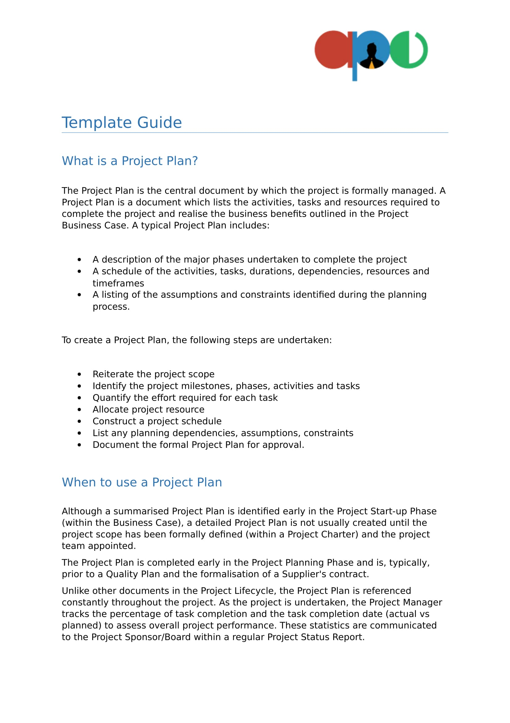 Project plan template 04 ape project management for Project management policy template