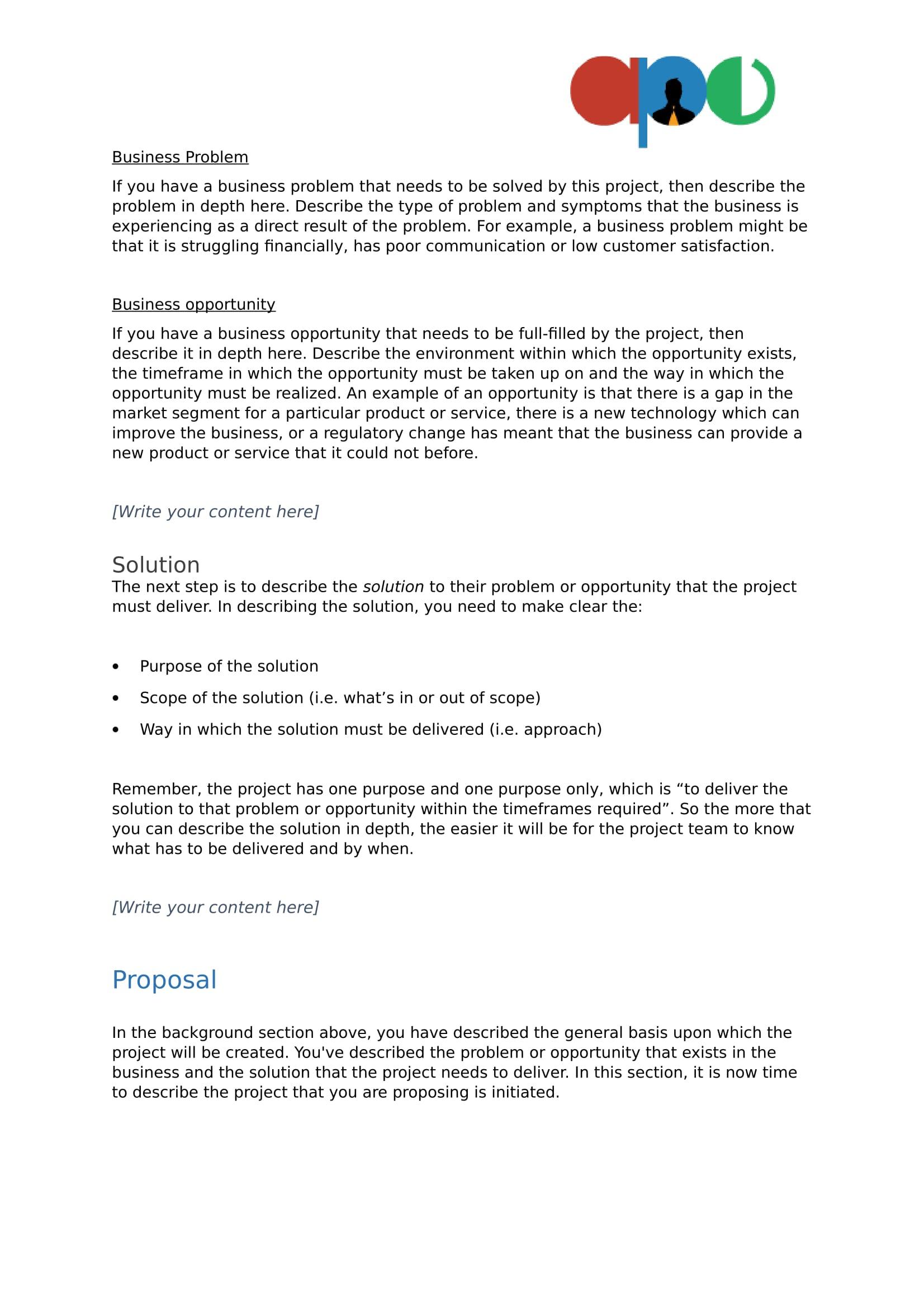 project proposal template ape